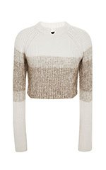 Cashmere Mohair Cropped Pullover