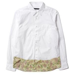 Sophnet Camouflage End Panel Regular Collar Shirt White