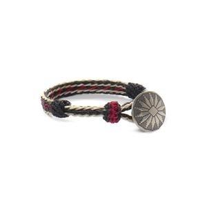 Chamula Sun Concho Bracelet Black/White/Red