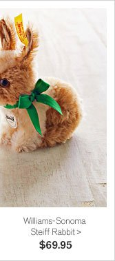 NEW & EXCLUSIVE - Williams-Sonoma Steiff Rabbit - $69.95