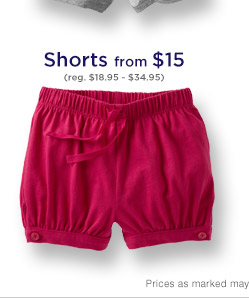 Shorts from $15