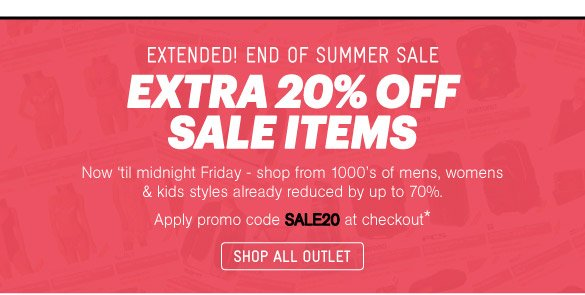 Extra 20% Off - Shop Outlet
