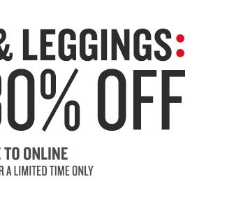 30% Off Leggings