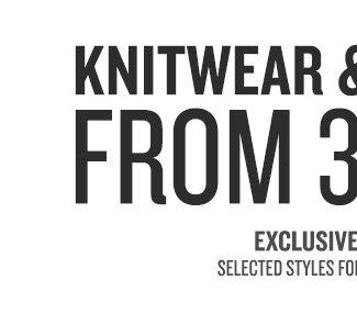 30% Off Knitwear