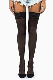 Sheer Lace Thigh Highs 11