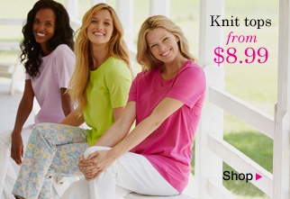 Knit Tops from $8.99