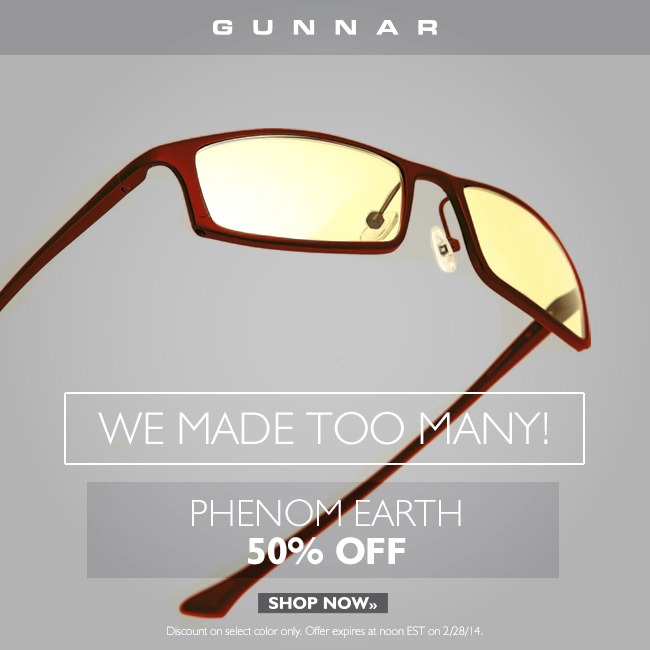 Clearance Sale! Up to 50% off Phenom Computer Eyewear!