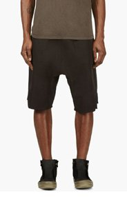 RICK OWENS Black Sarouel Lounge Shorts for men
