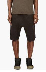 RICK OWENS Black Sarouel Lounge Shorts for men