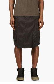 RICK OWENS Black Hybrid Sarouel Shorts for men