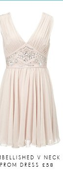 Embellished V Neck Prom Dress