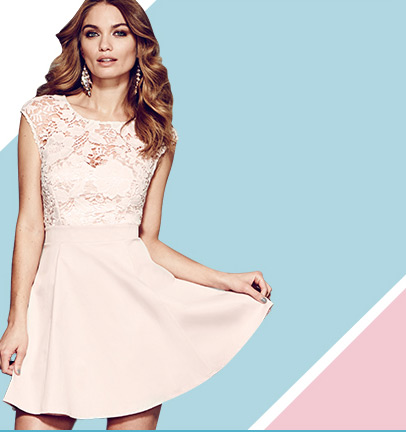Lace Top Skater Dress