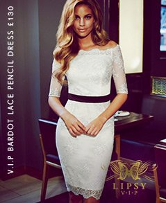 V I P Bardot Lace Pencil Dress