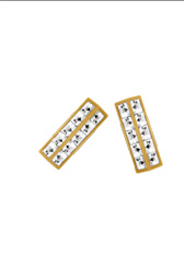 Pave Deco Bar Stud Earrings