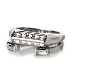 Baguette Stone Midi Ring Set