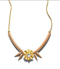 Flower Metal Collar Necklace