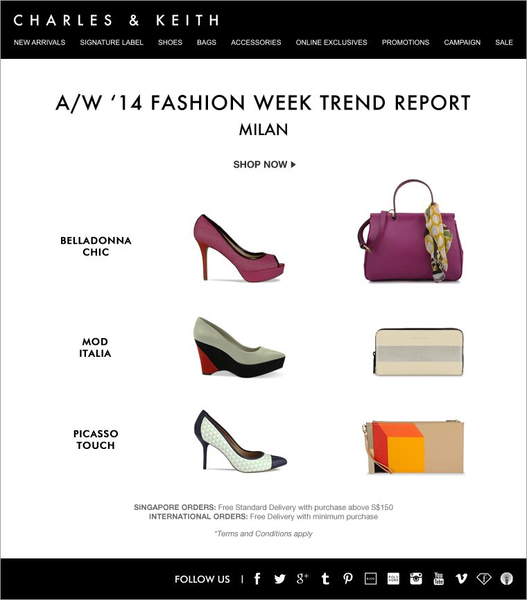 CHARLES & KEITH - Milan Fashion Week MFW Trend Report - Shoes and Bags