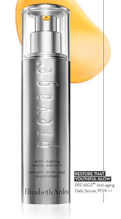 RESTORE THAT YOUTHFUL GLOW. PREVAGE® Anti-aging Daily Serum, $159.