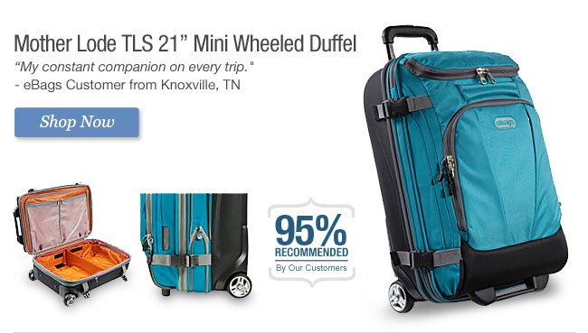 Shop Mother Lode TLS 21 in. Mini Wheeled Duffel