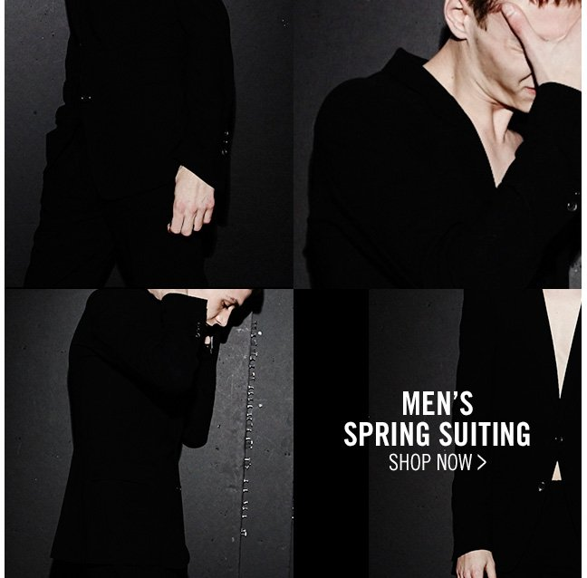 men's spring suiting - shop now >
