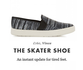 £160, Vince - THE SKATER SHOE - An instant update for tired feet.