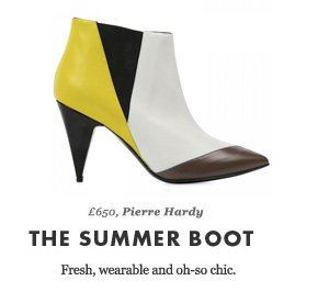 £650, Pierre Hardy - THE SUMMER BOOT - Fresh, wearable and oh-so chic.