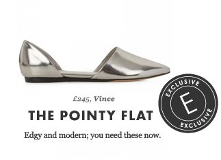 £245, Vince - THE POINTY FLAT - Edgy and modern; you need these now. EXCLUSIVE.