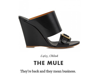 £465, Chloé - THE MULE - They're back and they mean business.