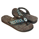Xelement Womens Diamond Floral Sandals