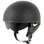 Outlaw V5-05 Flat Black with Visor Motorcycle Half Helmet
