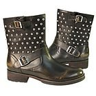Xelemenet Mens Engineer Stud Leather Boots