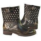 Xelemenet Mens Engineer Stud Leather Boots