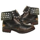 Xelement Womens Stud Lace Up Leather Boots