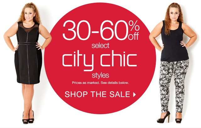 30-60% off select City Chic styles