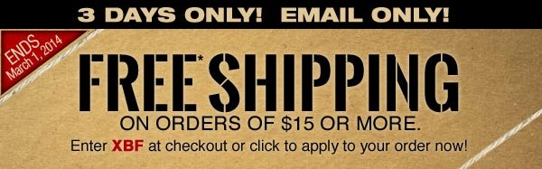 FREE* SHIPPING - LIMITED TIME!