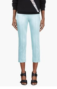 ROKSANDA ILINCIC Mint Green Pleated Cropped Trouser for women