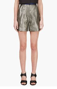ROKSANDA ILINCIC Grey Metallic Francine Shorts for women