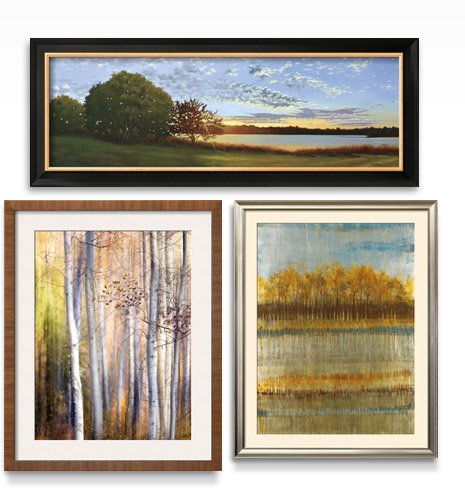 LAKESIDE SUNRISE By: Julie Peterson; BEACH TREES By: Liz Jardine; COME WALK WITH ME By: Ursula Abresch