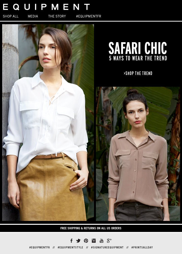 SAFARI CHIC 5 WAYS TO WEAR THE TREND >SHOP THE TREND