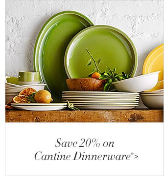 Save 20% on Cantine Dinnerware*