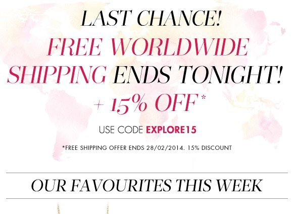 FREE SHIPPING +15% off