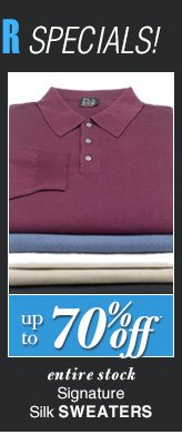 DOORBUSTER Signature Silk Sweaters - up to 70% Off*