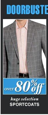 DOORBUSTER Sportcoats - over 80% Off*