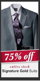 Signature Gold Suits - 75% Off*