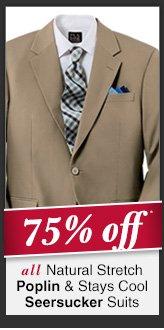 Natural Stretch Poplin & Stays Cool Seersucker Suits - 75% Off*