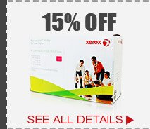 15% OFF SELECT XEROX-REPLACEMENT TONERS*
