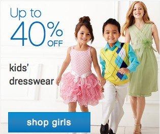 Up to 40% off kids dresswear. Shop girls