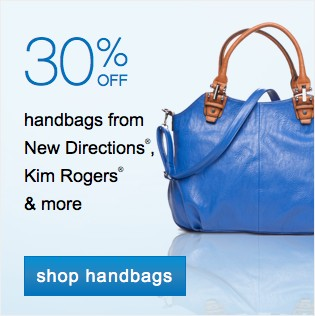 30% off handbags. Shop handbags.