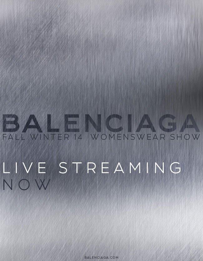 Balenciaga Live Fashion Show - Today at 9:15 AM CET on Balenciaga.com