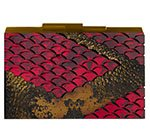 Lindworm Clutch in Burgundy and Gold